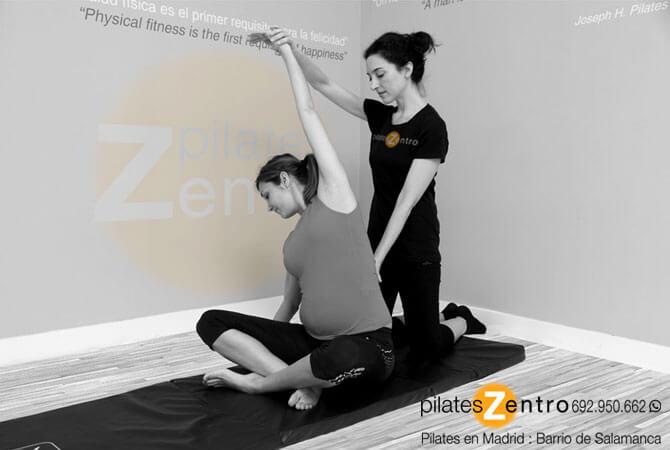 Mama dando clases de Pilates para Embarazadas en Madrid
