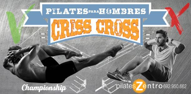 Hombre haciendo Criss Cross - Ejercicio de Pilates