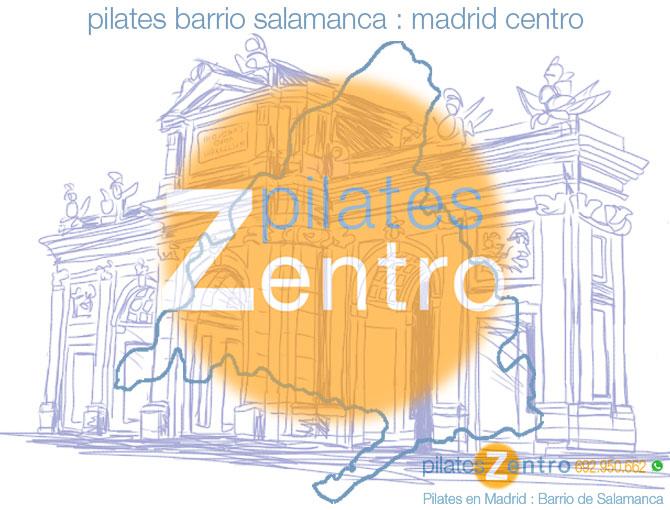 Pilates Barrio Salamanca : Puerta de Alcala y Logo Pilates Zentro