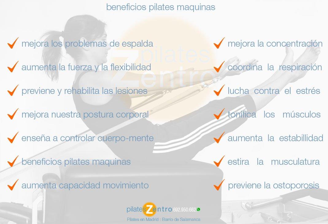 Beneficios de Pilates Maquinas en Madrid