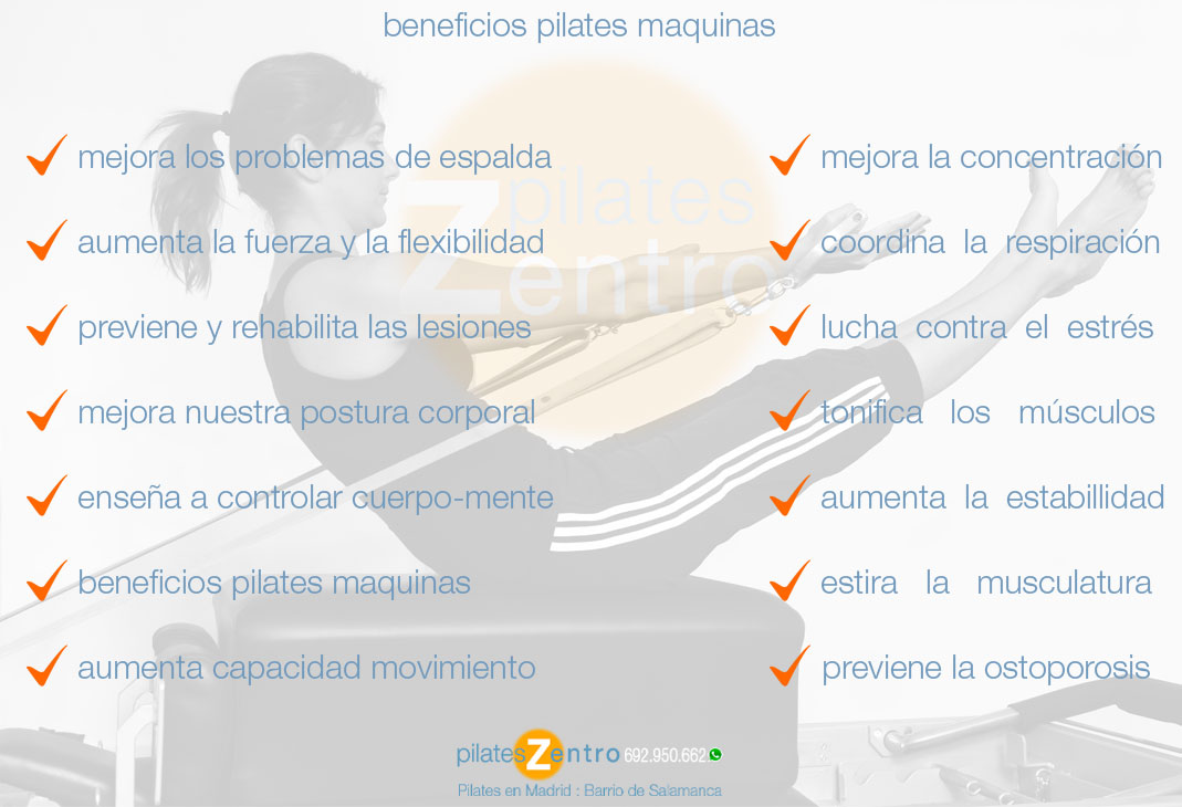 Beneficios del Pilates Maquinas Beneficios en Madrid